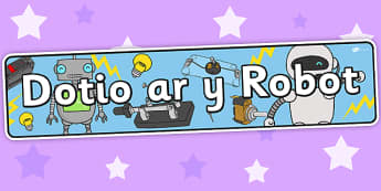 Robot Rampage Themed  Banner Welsh - banner, display