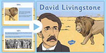 Scottish Significant Individuals David Livingstone PowerPoint - Scottish significant individual, explorer, Christian missionary, Africa, Victoria Falls, Zambezi, slave trade, anti-slave