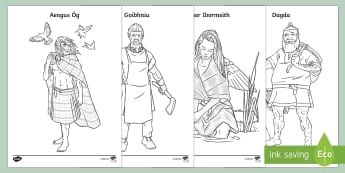 Irish Celtic Gods and Goddesses Colouring Pages-Irish - Requests - ROI, the Celts, Celtic gods, Celtic Goddesses, Irish gods, history, colouring sheets, col