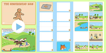 The Gingerbread Man Story and Story Sequencing Flipchart - story
