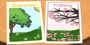 German Season Posters - german, season, posters, display, seasons