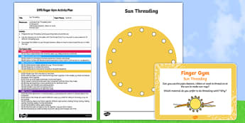 EYFS Summer Threading Finger Gym Plan and Resource Pack