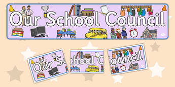 School Council Display Banner - School council, display banner, council, council members, member name, member, class council, display pack, poster, display