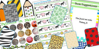 EYFS Number Sack Patterns - EYFS, number, maths, patterns, math