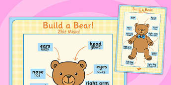 Large Format Build a Bear Poster Polish Translation - polish, build a bear, poster, display