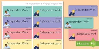 Maths 'Independent Work' Stickers - Marking, Feedback, Stickers, Rewards, Learning, Attitude, Time-Saving, Positive, Praise
