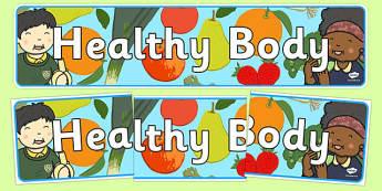 Healthy Body Display Banner - healthy body, display banner, display, banner, healthy, body, health