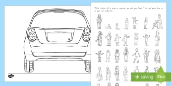 All About Me 'Family Stickers' Activity Sheet - New Zealand Back to School, nz, me, my family, families, people, pets, Worksheet