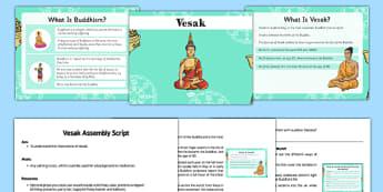 KS2 Vesak Assembly Pack - vesak, buddha, wesak, buddhism, assembly