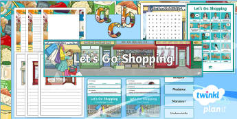 French: Let's Go Shopping Year 6 Additional Resources