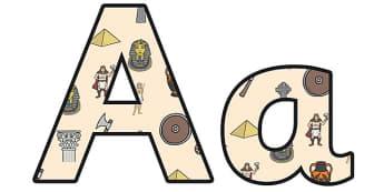 Ancient Civilizations Lowercase Display Lettering - ancient civilisations, ancient civilisations themed lettering, ks2 history display, civilisations ks2