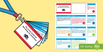 Lanyard-Sized Leuven Scales for Well-Being and Involvement Cards - EYFS Assessment Resources, Leuven scales, lueven, leuvan, lanyard, key fob, key ring, assessment, ob