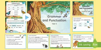 Year 4 Grammar and Punctuation challenge card and PowerPoint Pack - Year 4 Grammar and Punctuation Challenge Cards - grammar, punctuation, cards, year 4, spag, english,