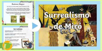 Surrealismo de Miró Presentación - surrealismo, arte, miró, pintura, realismo mágico,Spanish