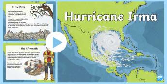 Hurricane Irma PowerPoint - Hurricane, tropical Storm, Irma, Harvey, Florida, Cuba, US Virgin Islands, Barbuda, Puerto Rico, Cat