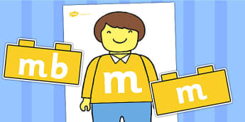 Toy Person m Sound Family Building Brick Cut Outs - sounds