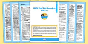 NSW Stage 1-3 Foundation to Year 6 English Syllabus Overview - australia