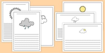 Weather Activity Writing Frame - weather, writing frame, writing