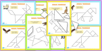 Tangram Animals Activity Booklet - activities, tangrams, animal
