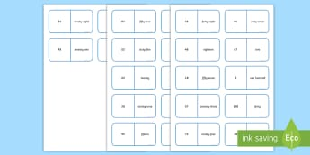 Numerals and Words to 100 Dominoes - Number, Place Value, dominoes, maths, numeracy, game