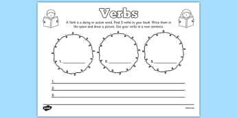 Verbs Comprehension Worksheet - verbs, comprehension, worksheet