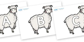 A-Z Alphabet on Small Billy Goats - A-Z, A4, display, Alphabet frieze, Display letters, Letter posters, A-Z letters, Alphabet flashcards