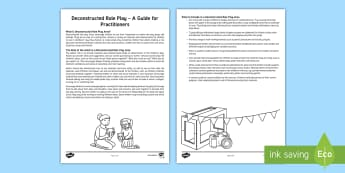 Deconstructed Role Play - A Guide for Practitioners - EYFS, Early Years, role-play, role-play area, In the Moment Planning, continuous provision,  environ