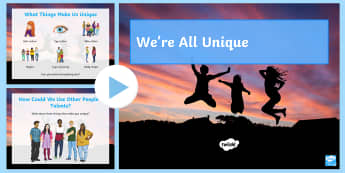 Functional Skills: We're All Unique! PowerPoint - Key Stage 4 Entry Level, self awareness, this is me