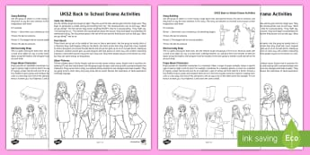UKS2 Back to School Drama Teaching Ideas - improvisation, mime, new term, year 5, year 6