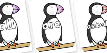 Tricky Words on Puffin to Support Teaching on The Great Pet Sale - Tricky words, DfES Letters and Sounds, Letters and sounds, display, words