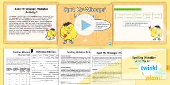 PlanIt Spelling Year 5 Term 2B W7: Assess & Review Spelling Pack - Spellings Year 5, Y5, spelling, spell, assessment, dictation, review, SPaG. GPS,