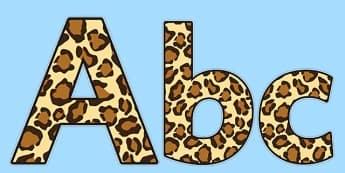 Leopard Pattern Size Editable Display Lettering - leopard, leopard pattern, size editable, aditable, display lettering, lettering, leopard lettering