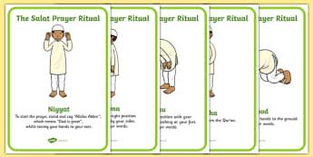 The Salat Prayer Ritual Sequencing - salat prayer, islam, religious education, religion