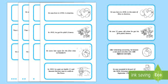 Neil Armstrong Differentiated Sorting Cards - important people, significant people, biographies, ks1, ks1 history, ks1 science, space, discovery,