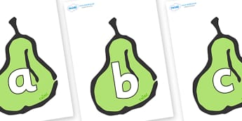 Phoneme Set on Pears - Phoneme set, phonemes, phoneme, Letters and Sounds, DfES, display, Phase 1, Phase 2, Phase 3, Phase 5, Foundation, Literacy