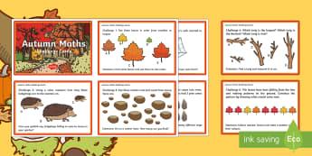 KS1 Autumn Maths Challenge Cards