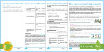 Guía del profesor: Cómo crear una clase de trabajo cooperativo - Tercer ciclo - trabajo, Cooperativo, proyectos, ABP, TC, trabajo por grupos, trabajo en grupo
