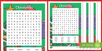 Christmas Word Search-Australia