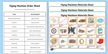 4th Grade Flying Machines Column Addition Activity Pack - usa, america, 4th grade, flying machines, column, addition, activity, pack