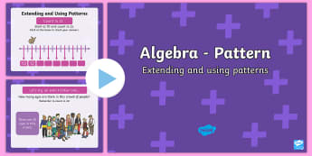 Extending and using patterns - Count in 2s KS1 PowerPoint - algebra, patterns, twos, counting, skip counting, extending,Irish