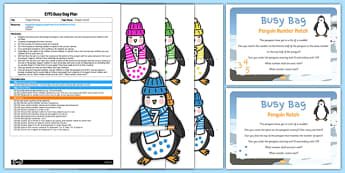Penguin Matching EYFS Busy Bag Plan and Resource Pack - Antarctic, Polar, Penguin, busy bag, matching, match