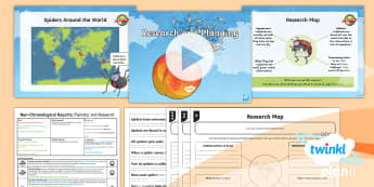 PlanIt Y4 Explorers: James and the Giant Peach Lesson Pack Non-Chronological Reports 1 - Explorers: James and the Giant Peach, Roald Dahl, Non-Chronological Reports, planning, research maps