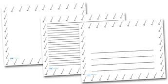Leaf Rake Landscape Page Borders- Landscape Page Borders - Page border, border, writing template, writing aid, writing frame, a4 border, template, templates, landscape