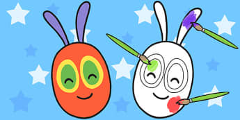 A4 Editable Caterpillar Head to Support Teaching on The Very Hungry Caterpillar - Edit