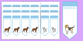 Dog Bookmarks - dog, doggy, bookmarks, books, placer, read, animal, pet