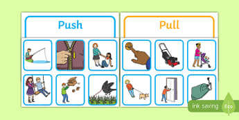Push or Pull Sorting Cards