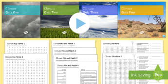 Climate Edexcel GCSE Activity Pack - Climate, GCSE, Geography, keywords, revision, Hazardous Earth, Edexcel