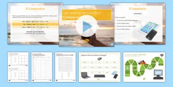 New Technologies Lesson 2: Comparative and Superlative Lesson Pack - KS4, Spanish, New Technologies, everyday, life, ordenador, movil, teléfono, tableta, portatil, vide