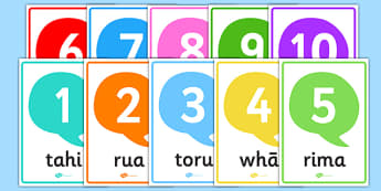 Numbers 1-10 Posters Te Reo Māori - nz, new zealand, numbers, 1-10, posters, te reo māori