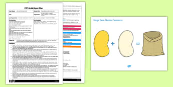 Magic Beans Addition Activity EYFS Adult Input Plan and Resource Pack - activities